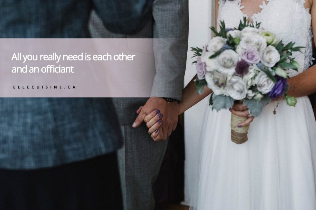 All you really need is each other and an officiant