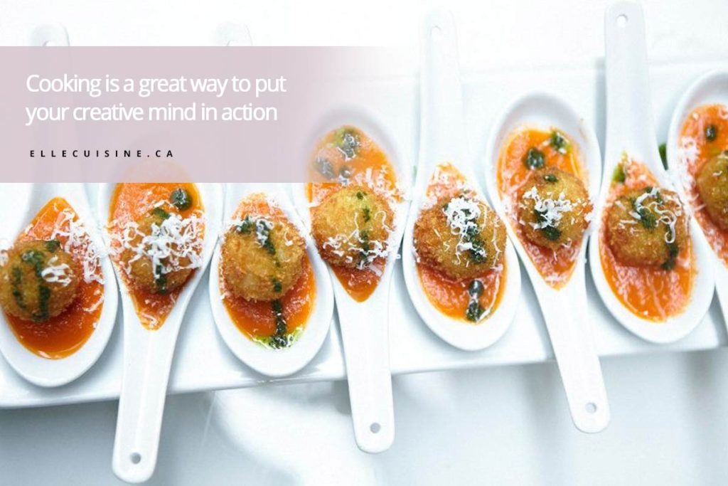 Cooking is a great way to put your creative mind in action