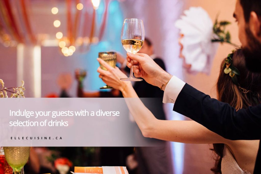 Indulge your guests with a diverse selection of drinks