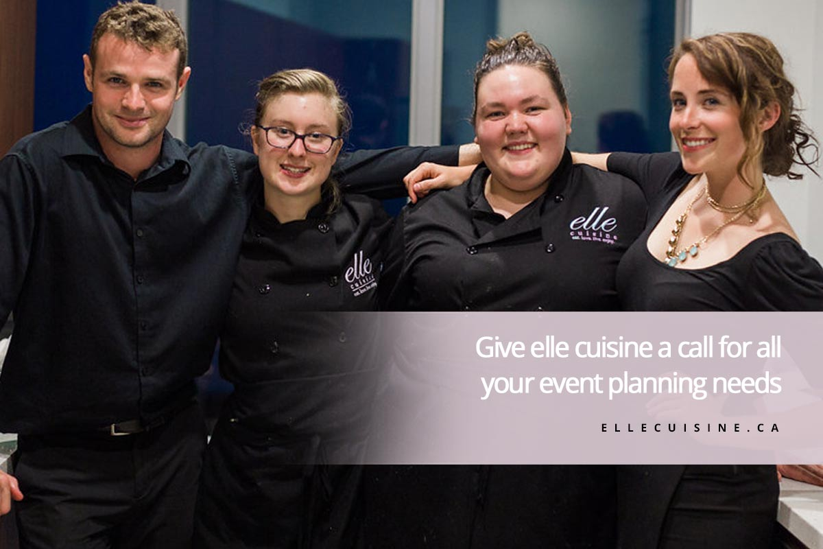 Give elle cuisine a call for all your event planning needs