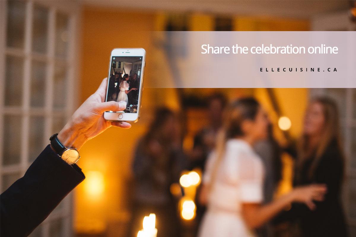 Share the celebration online