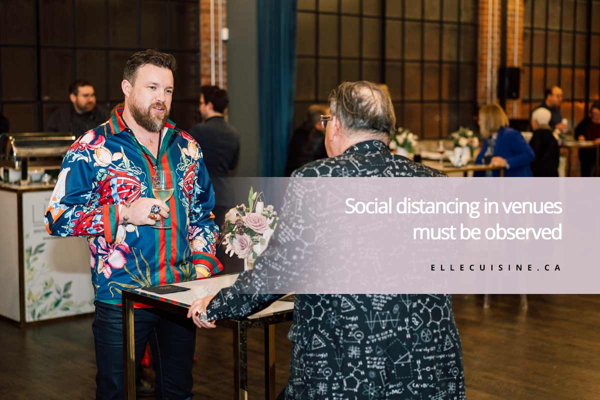 Social distancing in venues must be observed