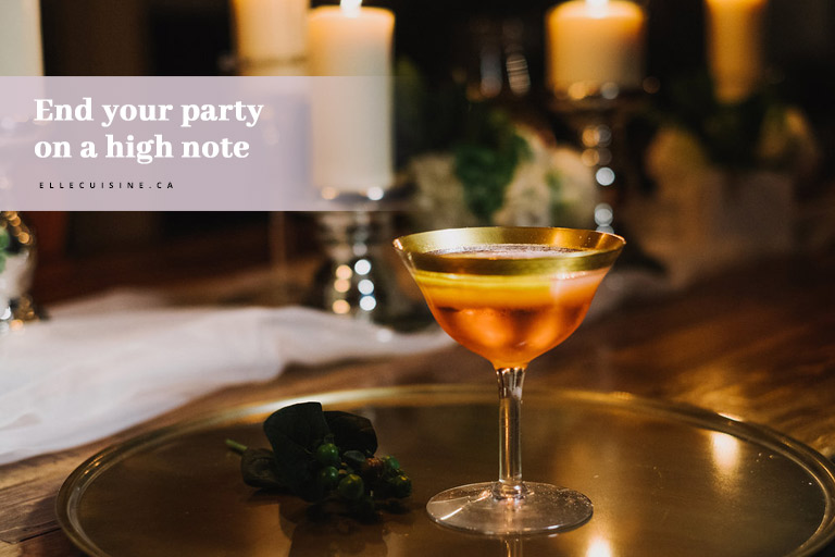 End your party on a high note