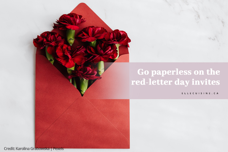 Go paperless on the red-letter day invites