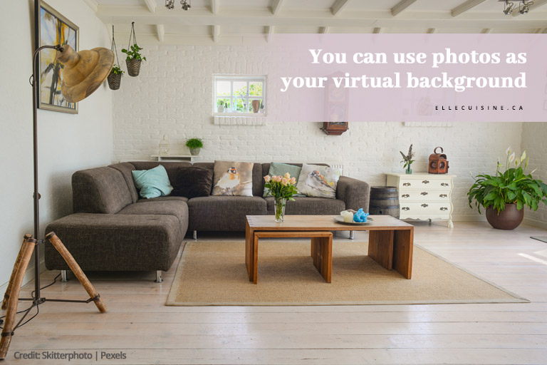 You can use photos as your virtual background