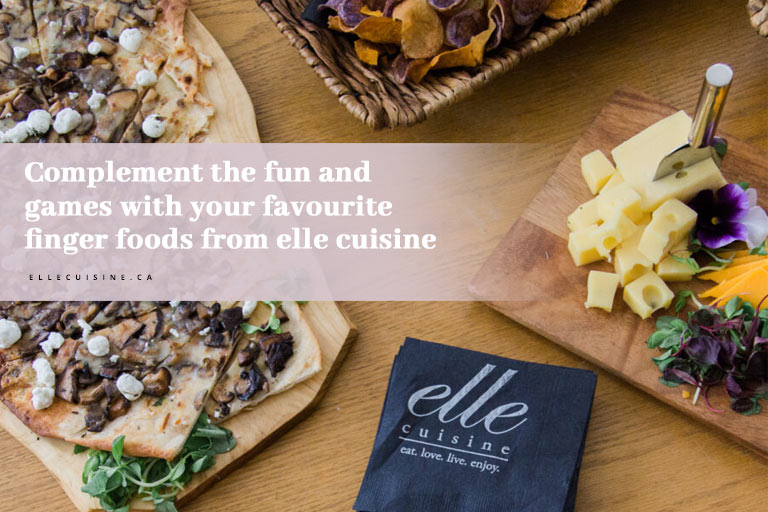 Complement the fun and games with your favourite finger foods from elle cuisine