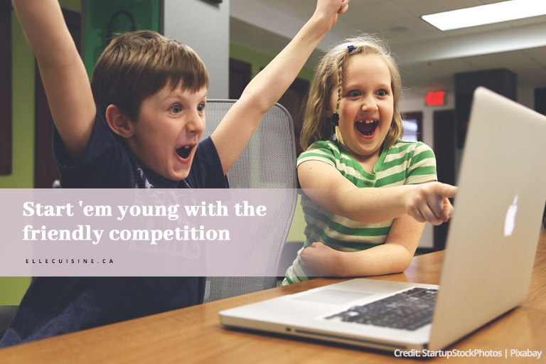 Start 'em young with the friendly competition