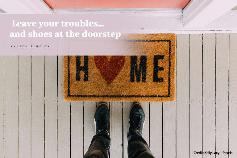 Leave your troubles… and shoes at the doorstep