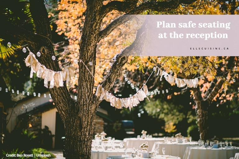 Plan safe seating at the reception