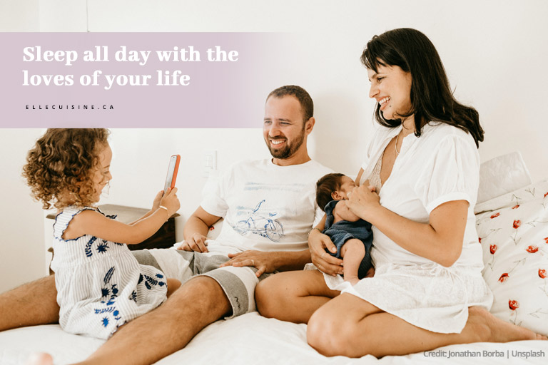 Sleep all day with the loves of your life